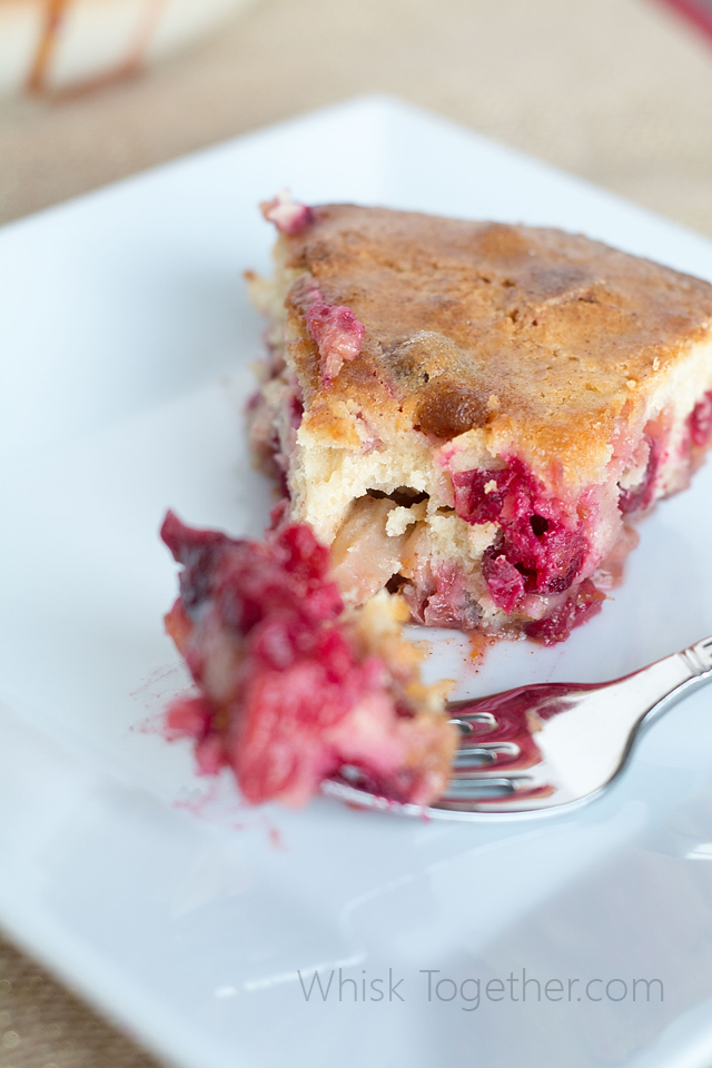 Cranberry Cake-on Whisk Together