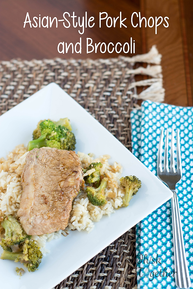 Asian Style Pork Chops and Broccoli