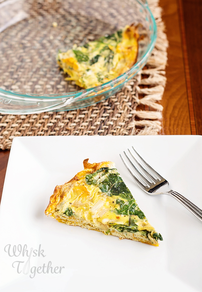 Sweet Potato Crust Quiche on Whisk Together2