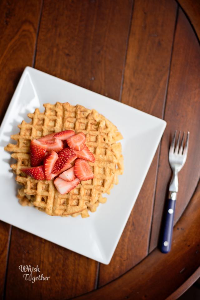 Greek Yogurt Waffles Breakfast