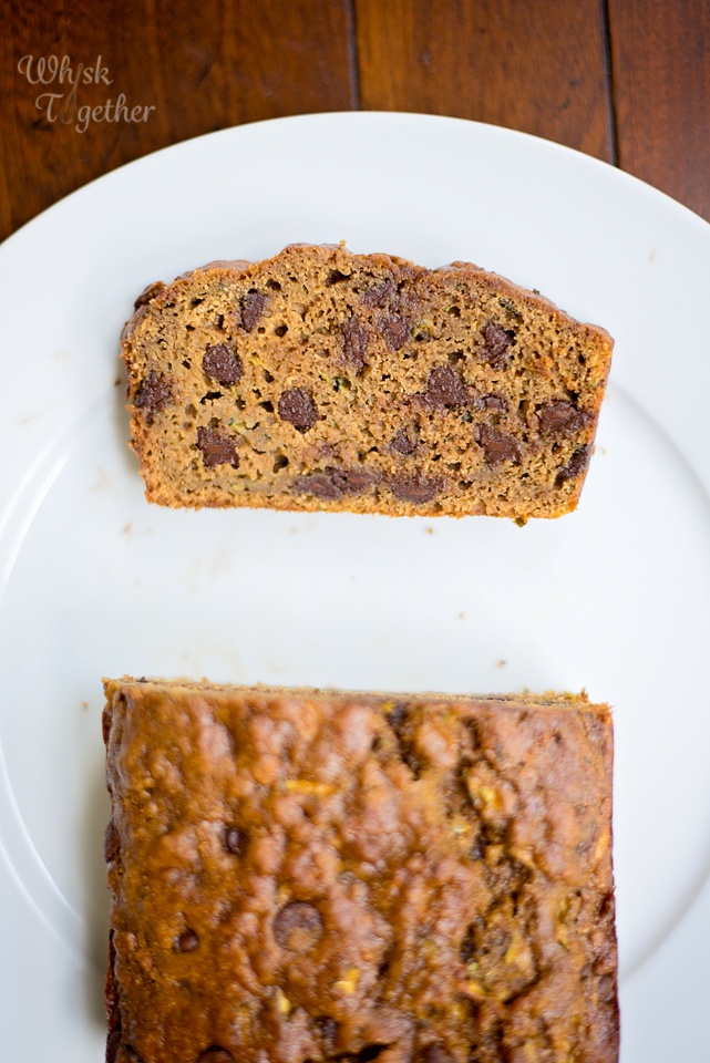 Whole Wheat Chocolate Chip Zucchini Bread Recipe 3