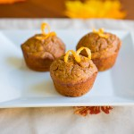 Pumpkin Ginger Muffins with Orange Glaze & Free Halloween Printable!