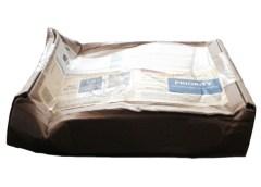 Zustand von Päckchen mit Sampleflasche bei Auslieferung