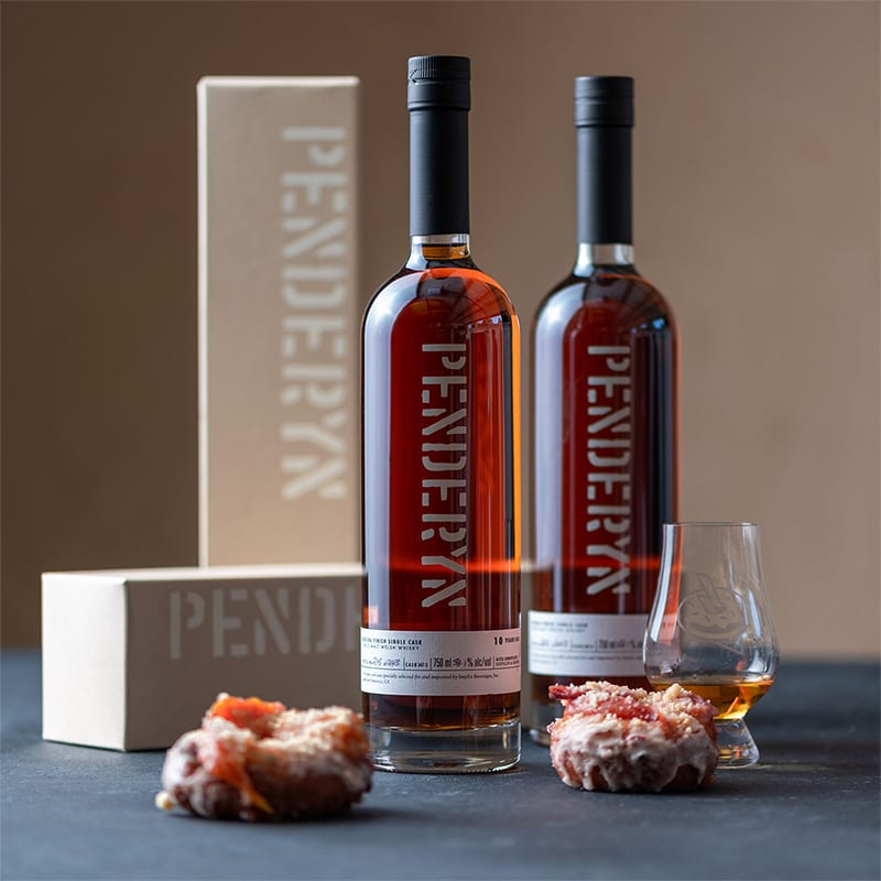 Penderyn 10 Madeira Finish Single Cask | Peach Upside Down - Whisky And Donuts - WhiskyAndDonuts.com