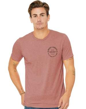 Small Batch Mens Tee - Mauve - Whisky and Donuts - WhiskyAndDonuts.com