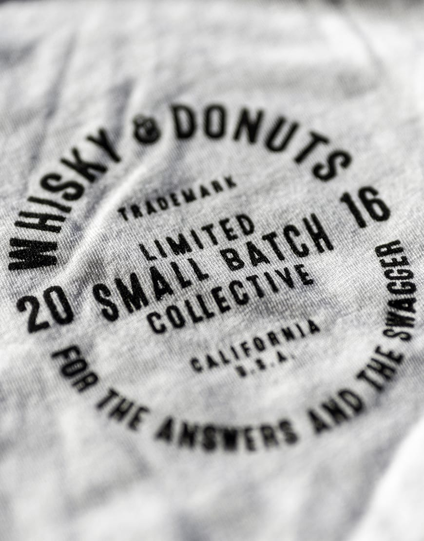Small Batch Mens Tee - White - Whisky and Donuts - WhiskyAndDonuts.com