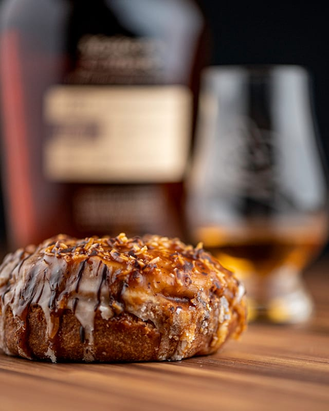 Makers Mark FAE-01 & Caramel Coconut | Whisky And Donuts - WhiskyAndDonuts.com