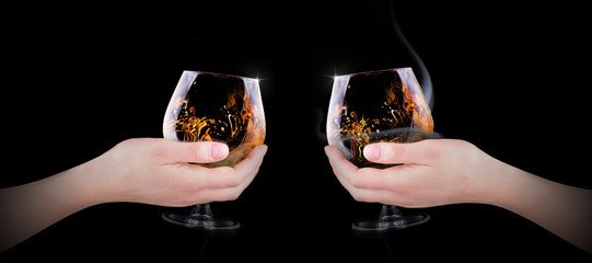 whisky toasting glasses