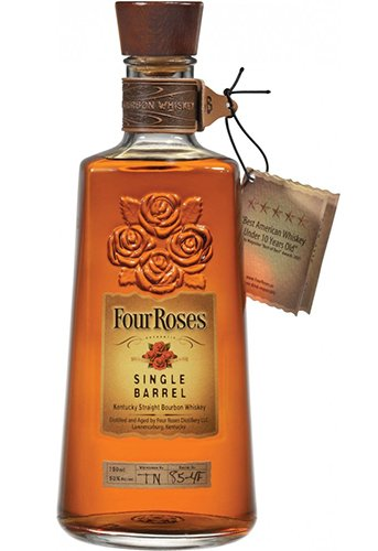 image of four roses single barrell with tag.