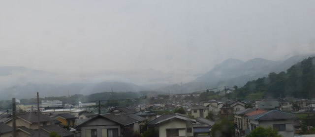 Im Regen zu Fuji-Gotemba