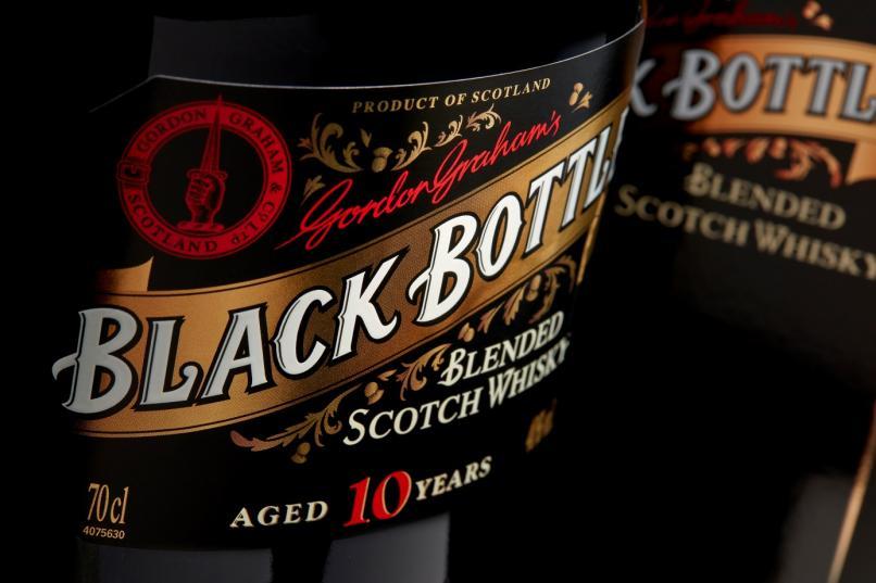 Black Bottle Etikett Detail