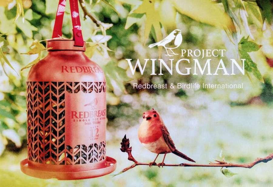 Redbreast Birdfeeder mit Vogel