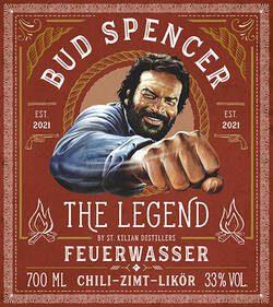 Wildwest Likör Bud Spencer Feuerwasser Etikett