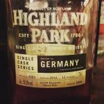 Highland Park bottled for Germany