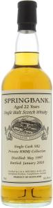 Springbank 1997 Private Cask #582 HMMJ collection