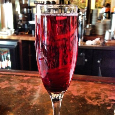 Monday Mixology | Wild Hibiscus Flower and Champagne