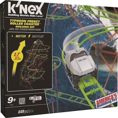 K'NEX Typhoon Frenzy™ Roller Coaster Building Set {Review} #HH2013
