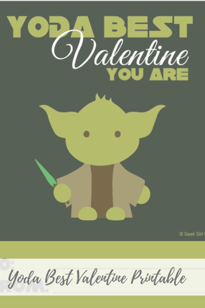 Free Yoda Valentine Printable