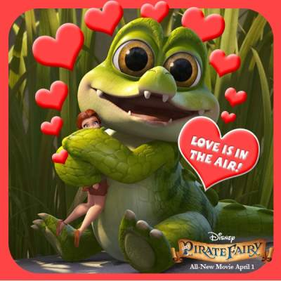 Happy Valentine's Day from Rosetta and Crocky: Disney's The Pirate Fairy