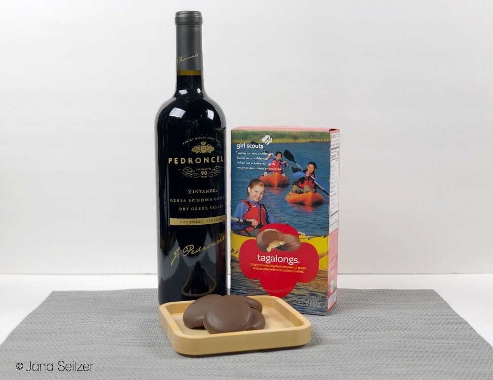 zinfandel and tagalongs