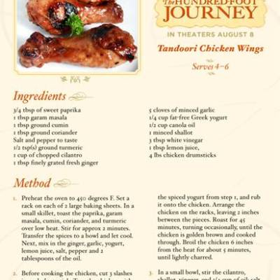 DreamWorks Pictures' THE HUNDRED-FOOT JOURNEY New Recipe