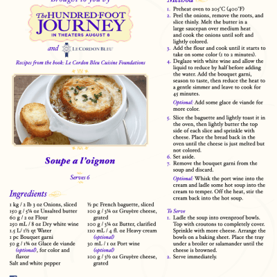 DreamWorks Pictures' THE HUNDRED-FOOT JOURNEY French Onion Soup Recipe #FoodieFriday ‪#‎100FootJourneyEvent