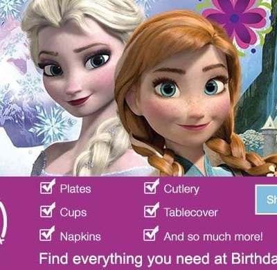 Disney's Frozen Party Supplies at Birthday Express