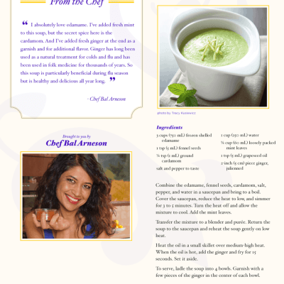 Mint Edamame Soup Recipe from THE HUNDRED-FOOT JOURNEY ‪#‎100FootJourneyEvent