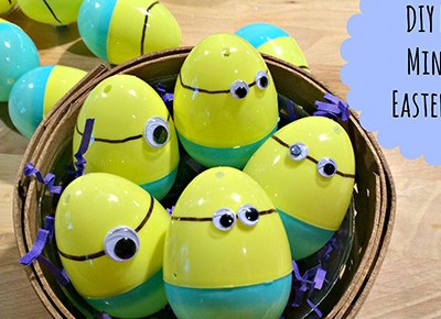DIY Easy Minion Easter Eggs