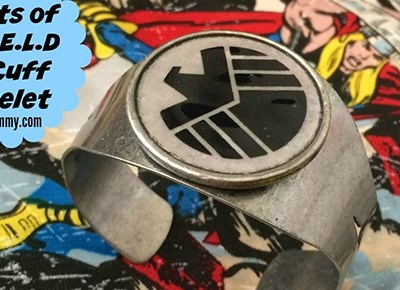 Agents of S.H.I.E.L.D DIY Cuff Bracelet