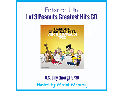Enter to Win a Peanuts Greatest Hits CD #Giveaway ends 9/30