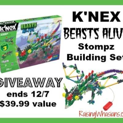 K'NEX Stompz Building Set #Giveaway ends 12/7