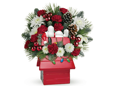 Celebrate the Peanuts Gang with Teleflora This Christmas