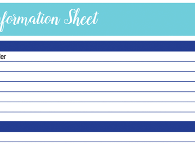 Health Information Worksheet: 30 Days of Free Printables