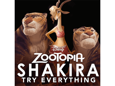 "Disney's ZOOTOPIA New Song ""Try Everything"" by Shakira Now Available on iTunes"