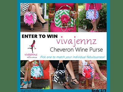 Giveaway: Vivajennz Wine Purse ends 2/3