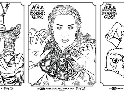 Disney Alice Coloring + Activity Sheets
