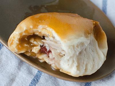 Cranturkey Buns – Thanksgiving Leftover Recipe