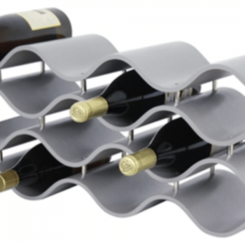 BALI 12-BOTTLE WINE RACK, GRAY