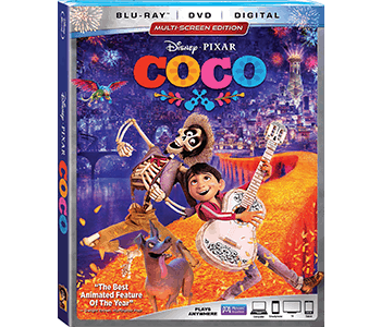 Disney • Pixar's COCO on Blu-Ray and DVD