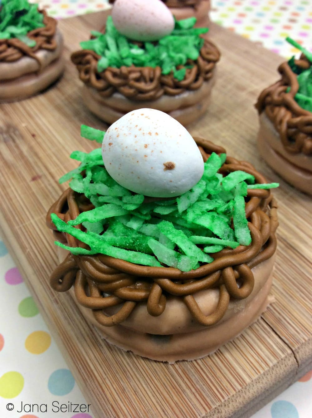Chocolate Dipped Easter Nest Treats