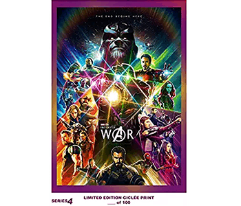 RARE POSTER thick THE AVENGERS: INFINITY WAR comic con REPRINT #'d/100!! 12x18 SERIES 4