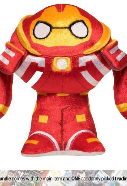 Hulkbuster- Funko Hero Plushies x Avengers - Infinity War Plush + 1 Official Marvel Trading Card Bundle