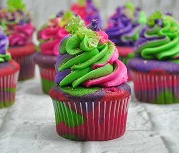 Gamora Cupcakes – Marvel Cupcakes