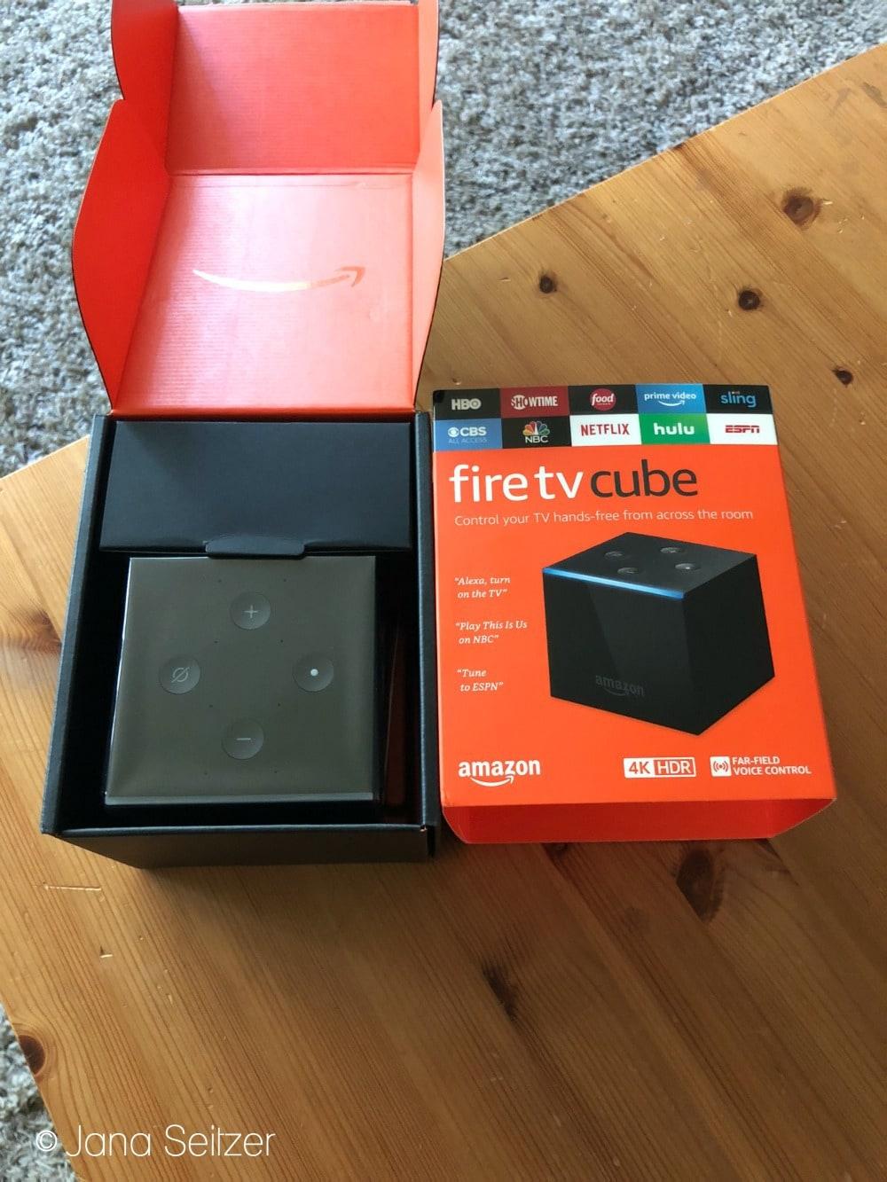 Amazon Fire TV Cube for simple entertainment integration - box