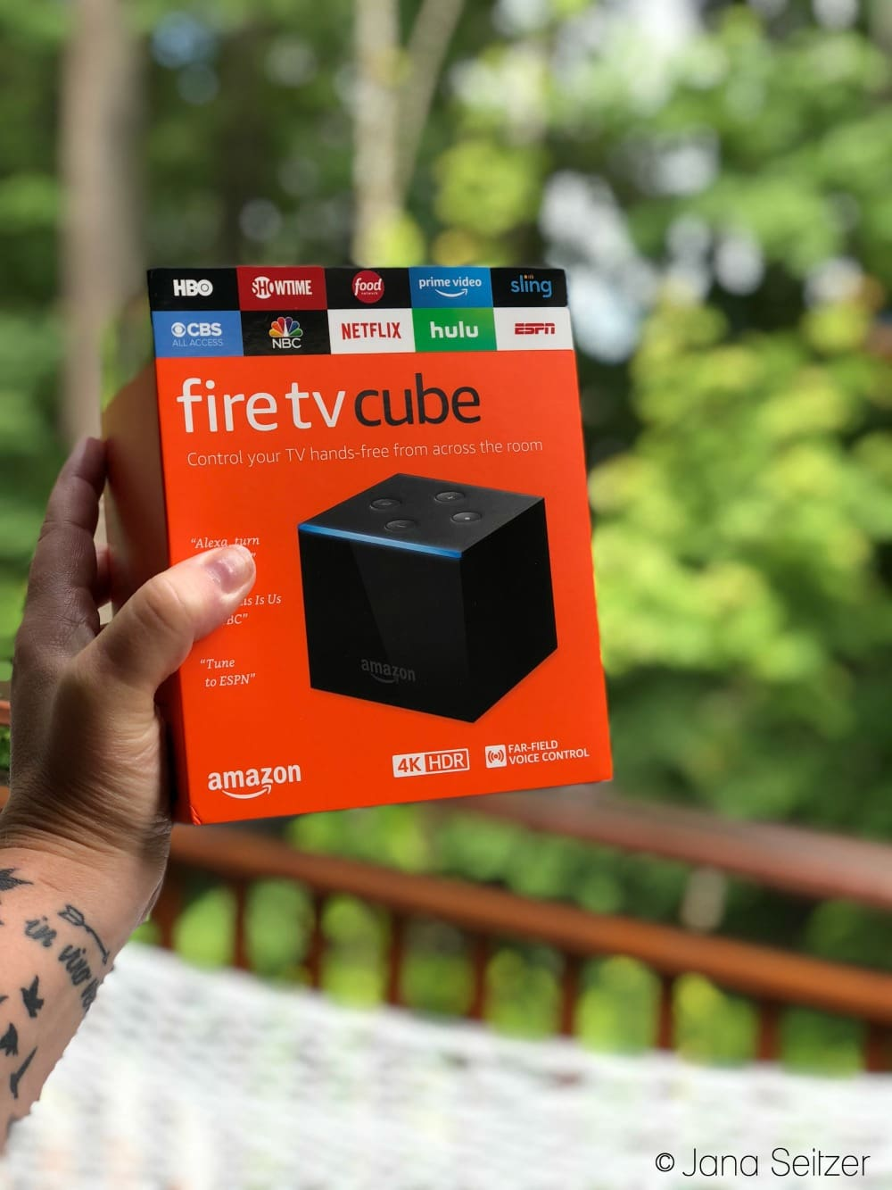 Amazon Fire TV Cube for simple entertainment integration - box
