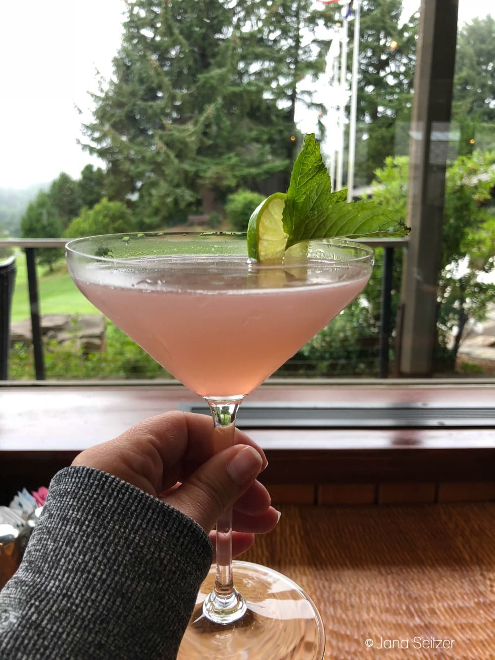 Summer at Salishan Resort on the Oregon Coast - gimlet at the Sun Room