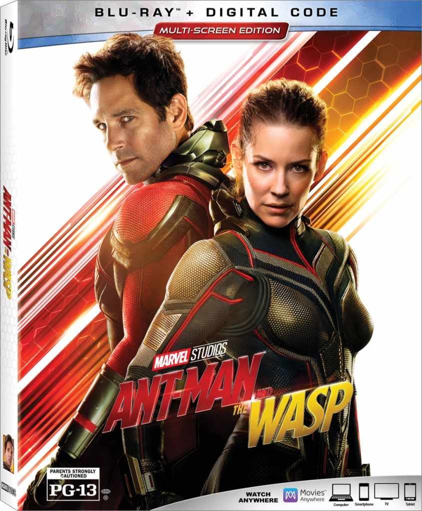Ant-Man and the Wasp Blu-Ray cover art