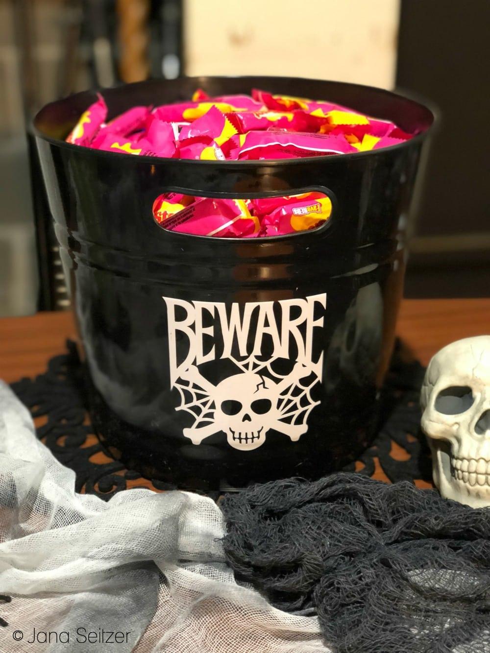 DIY Halloween Decor - Custom Halloween Candy Bucket