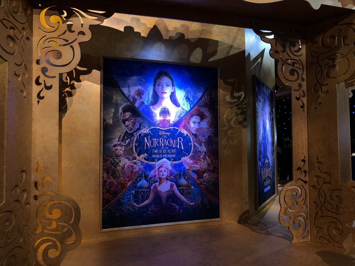 Walking the Red Carpet for Disney's Nutcracker and the Four Realms - character posters
